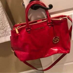 GUC Hot Red Micheal Kors satchel